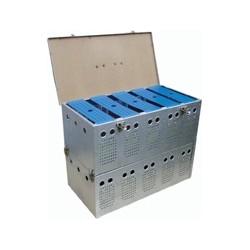 Caixa de Transporte em Aluminio 8 Pombos