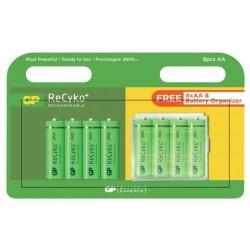 Blister 8 Pilhas Recarregáveis AA 1,2V 2600mAh